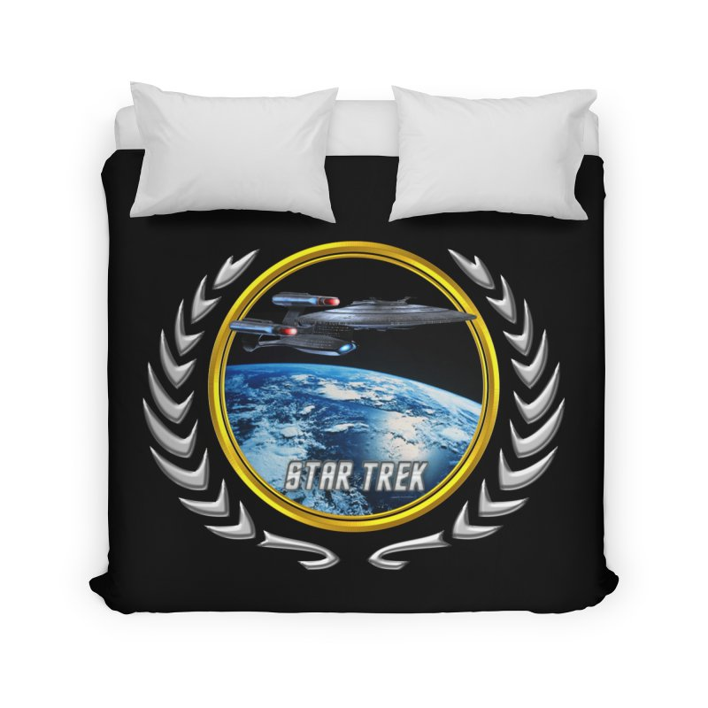 Star trek Federation of Planets Enterprise Galaxy Class Dreadnought Home Duvet by ratherkool's Artist Shop