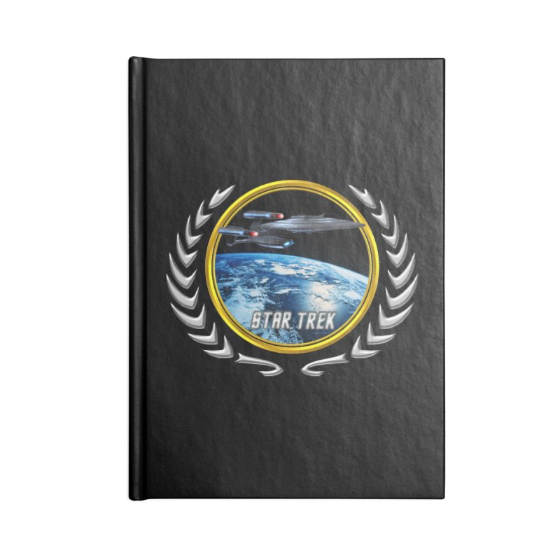 Star trek Federation of Planets Enterprise Galaxy Class Dreadnought Accessories Notebook by ratherkool's Artist Shop