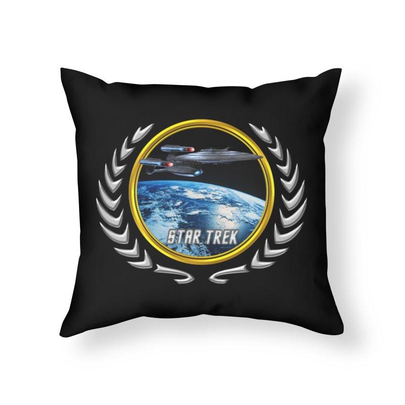 Star trek Federation of Planets Enterprise Galaxy Class Dreadnought Home Throw Pillow by ratherkool's Artist Shop