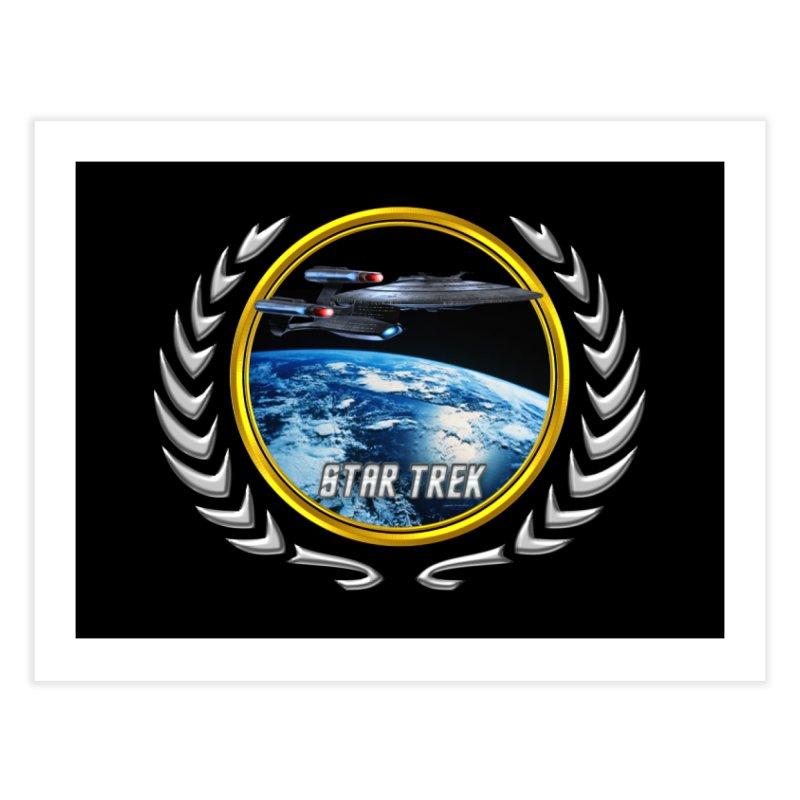 Star trek Federation of Planets Enterprise Galaxy Class Dreadnought Home Fine Art Print by ratherkool's Artist Shop