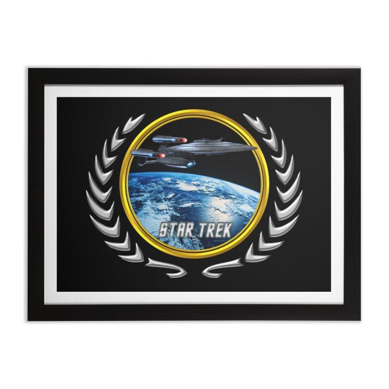 Star trek Federation of Planets Enterprise Galaxy Class Dreadnought Home Framed Fine Art Print by ratherkool's Artist Shop