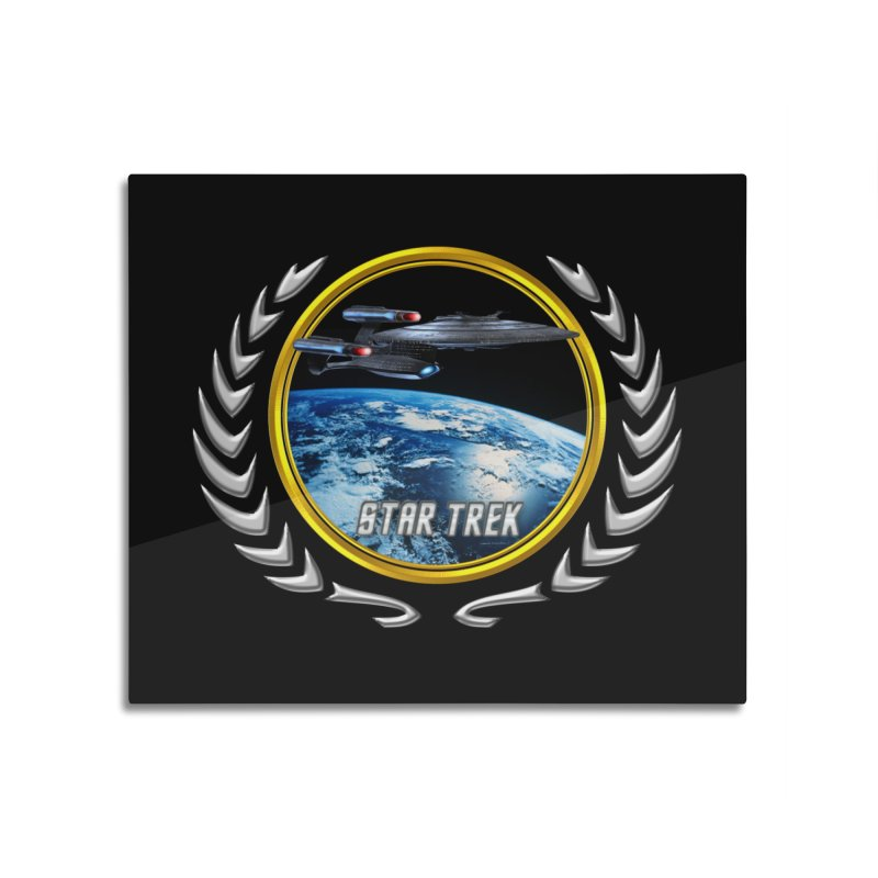 Star trek Federation of Planets Enterprise Galaxy Class Dreadnought Home Mounted Aluminum Print by ratherkool's Artist Shop