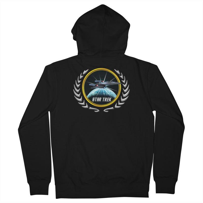 Star trek Federation of Planets Enterprise Galaxy Class Dreadnought 2 Men's Zip-Up Hoody by ratherkool's Artist Shop