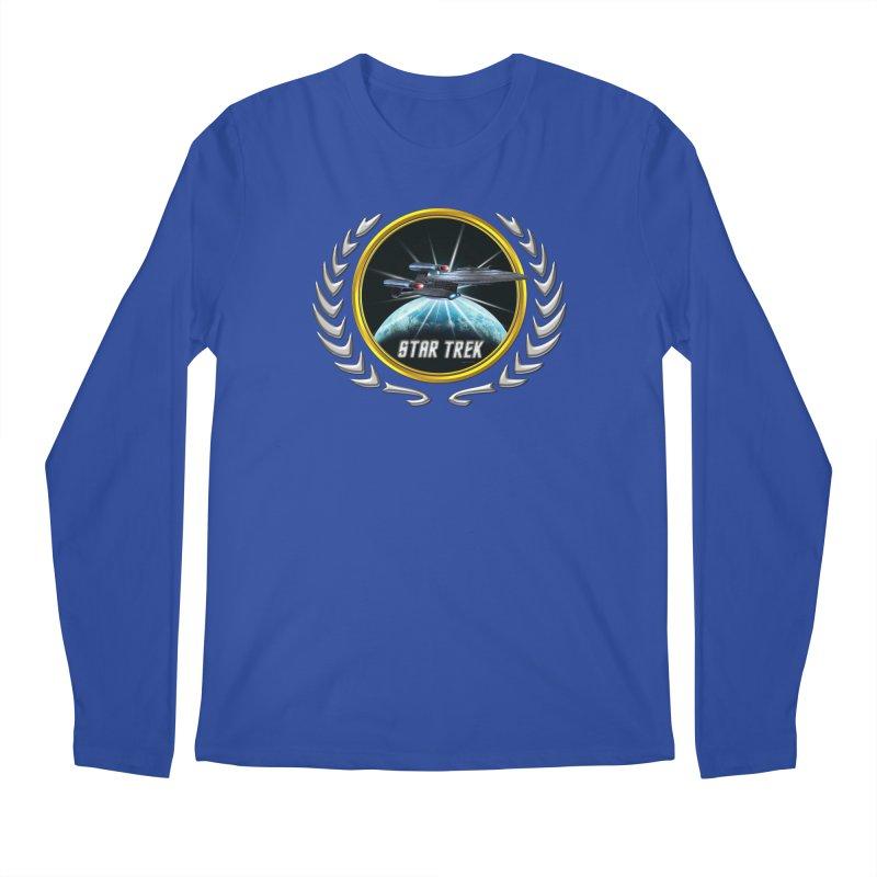 Star trek Federation of Planets Enterprise Galaxy Class Dreadnought 2 Men's Longsleeve T-Shirt by ratherkool's Artist Shop