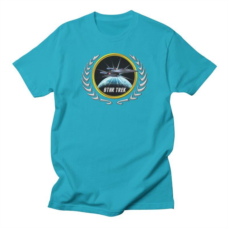 Star trek Federation of Planets Enterprise Galaxy Class Dreadnought 2 Men's T-Shirt by ratherkool's Artist Shop