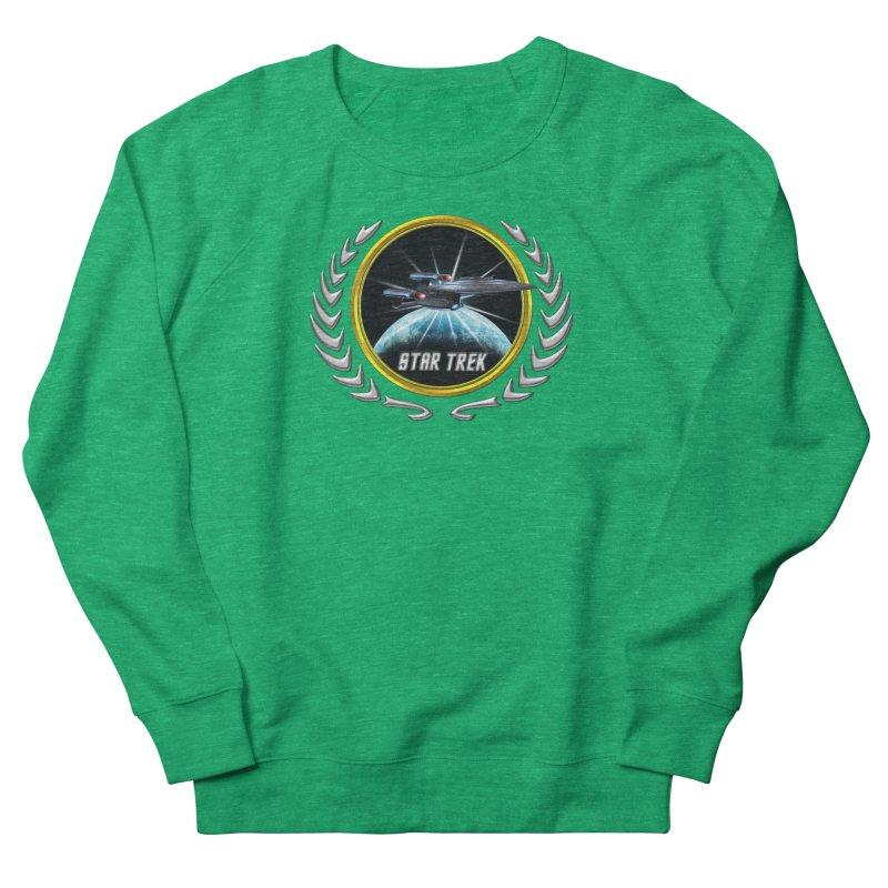 Star trek Federation of Planets Enterprise Galaxy Class Dreadnought 2 Men's Sweatshirt by ratherkool's Artist Shop
