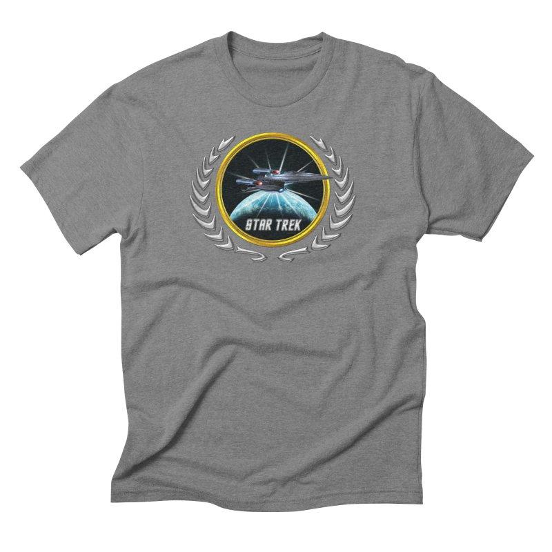 Star trek Federation of Planets Enterprise Galaxy Class Dreadnought 2 Men's Triblend T-Shirt by ratherkool's Artist Shop