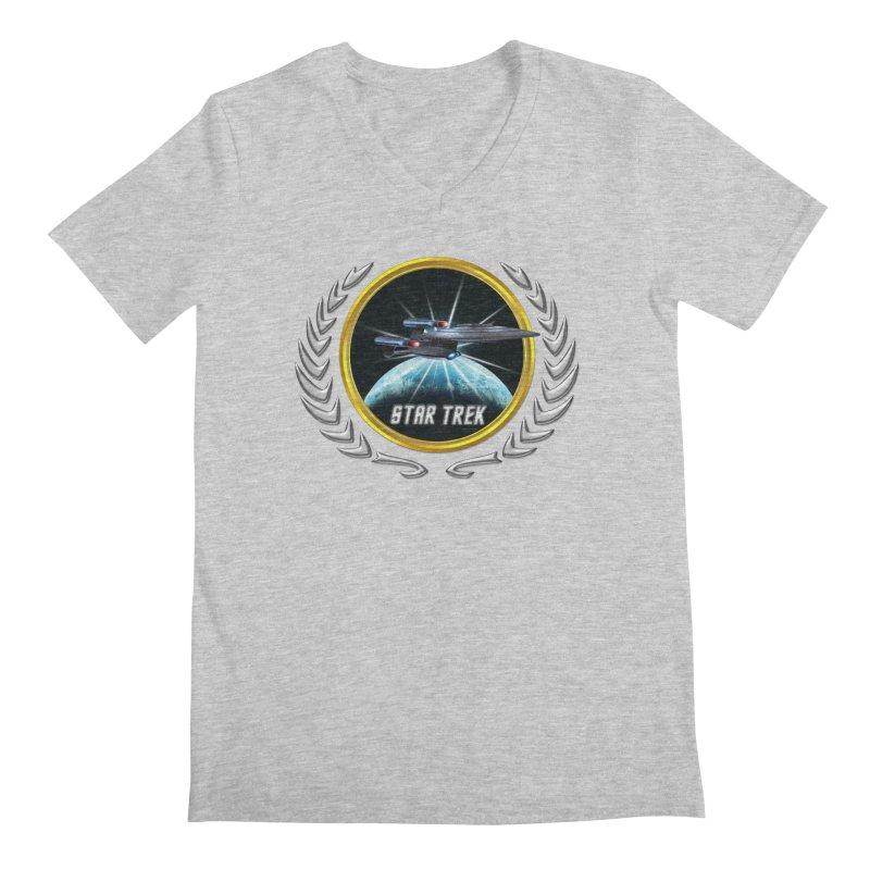 Star trek Federation of Planets Enterprise Galaxy Class Dreadnought 2 Men's V-Neck by ratherkool's Artist Shop