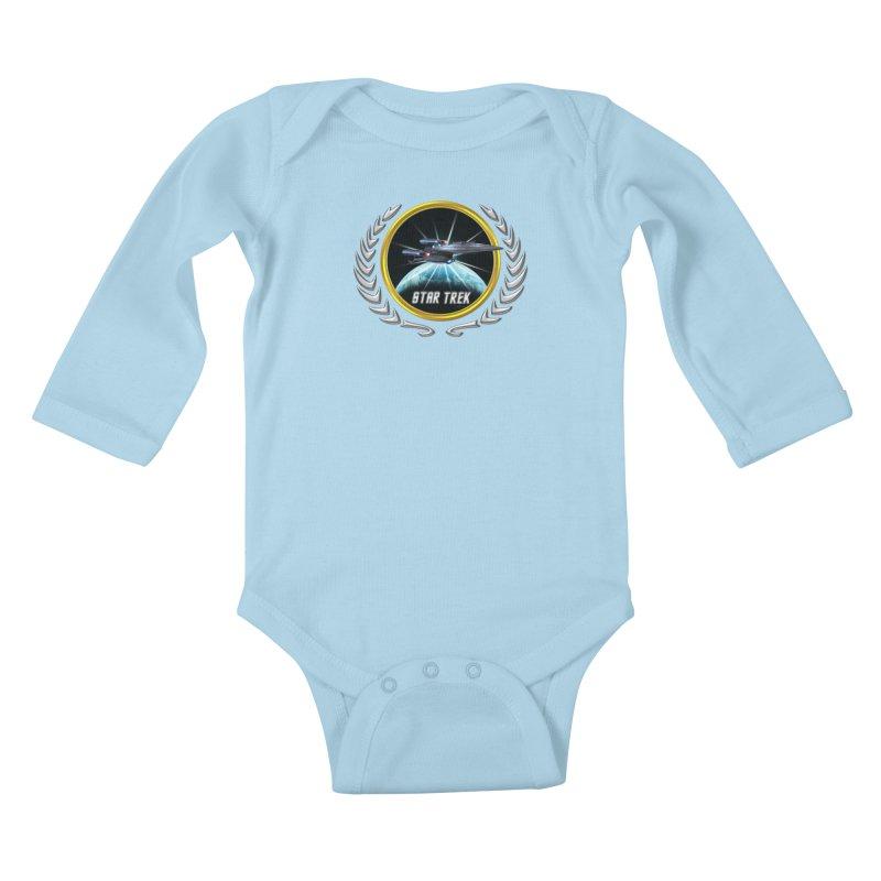 Star trek Federation of Planets Enterprise Galaxy Class Dreadnought 2 Kids Baby Longsleeve Bodysuit by ratherkool's Artist Shop
