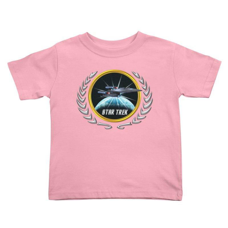 Star trek Federation of Planets Enterprise Galaxy Class Dreadnought 2 Kids Toddler T-Shirt by ratherkool's Artist Shop