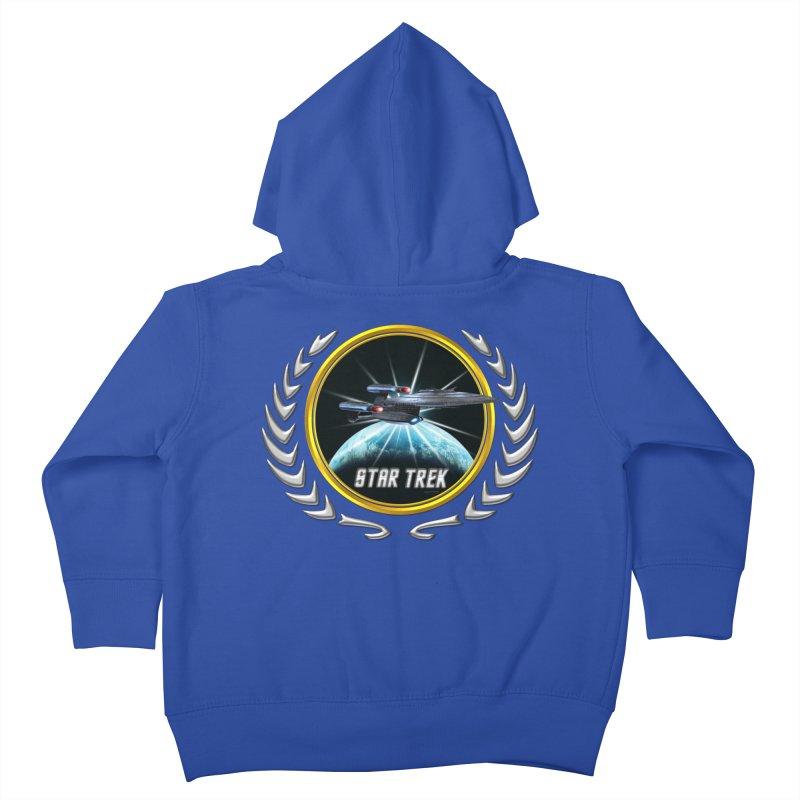 Star trek Federation of Planets Enterprise Galaxy Class Dreadnought 2 Kids Toddler Zip-Up Hoody by ratherkool's Artist Shop