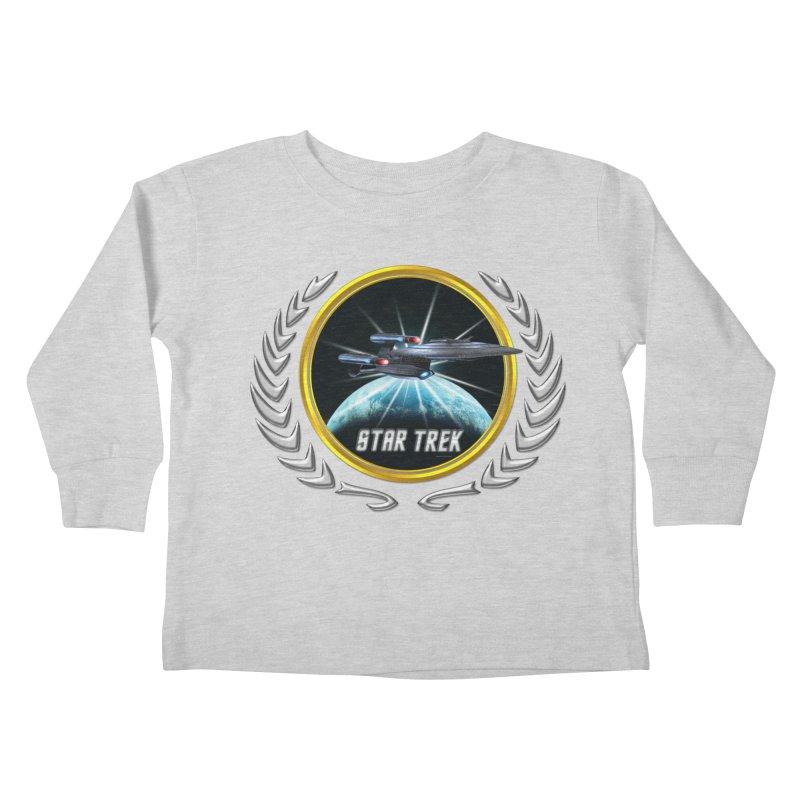 Star trek Federation of Planets Enterprise Galaxy Class Dreadnought 2 Kids Toddler Longsleeve T-Shirt by ratherkool's Artist Shop