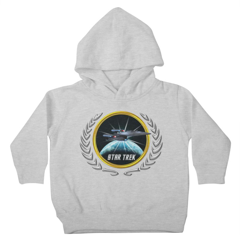 Star trek Federation of Planets Enterprise Galaxy Class Dreadnought 2 Kids Toddler Pullover Hoody by ratherkool's Artist Shop
