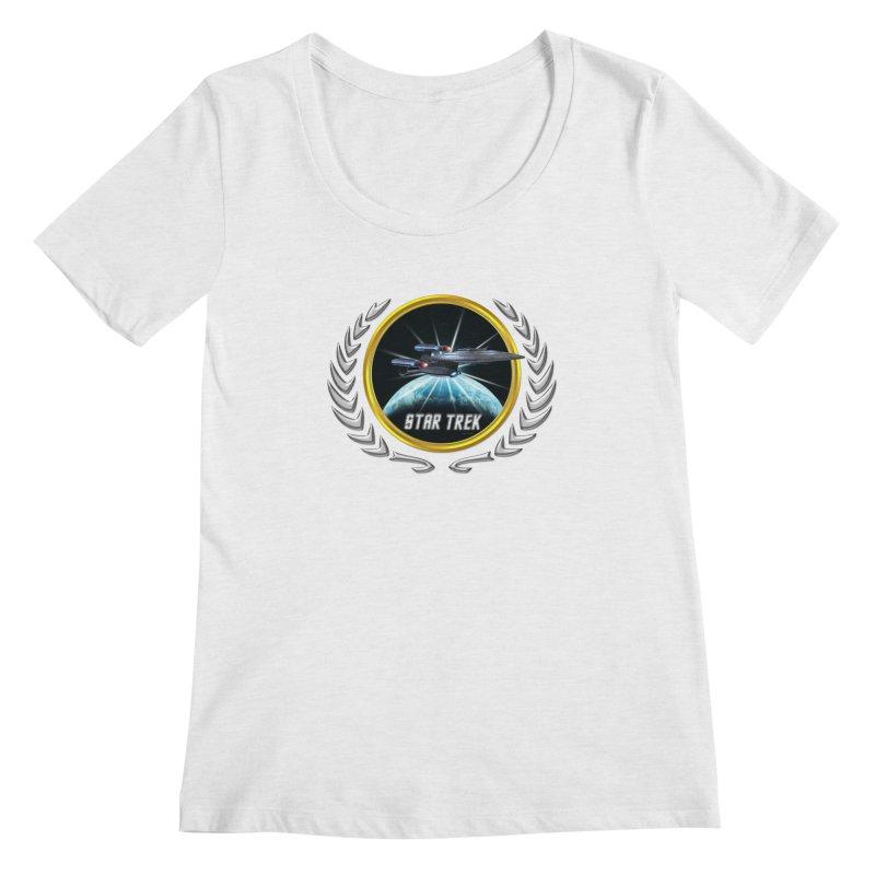 Star trek Federation of Planets Enterprise Galaxy Class Dreadnought 2 Women's Scoopneck by ratherkool's Artist Shop