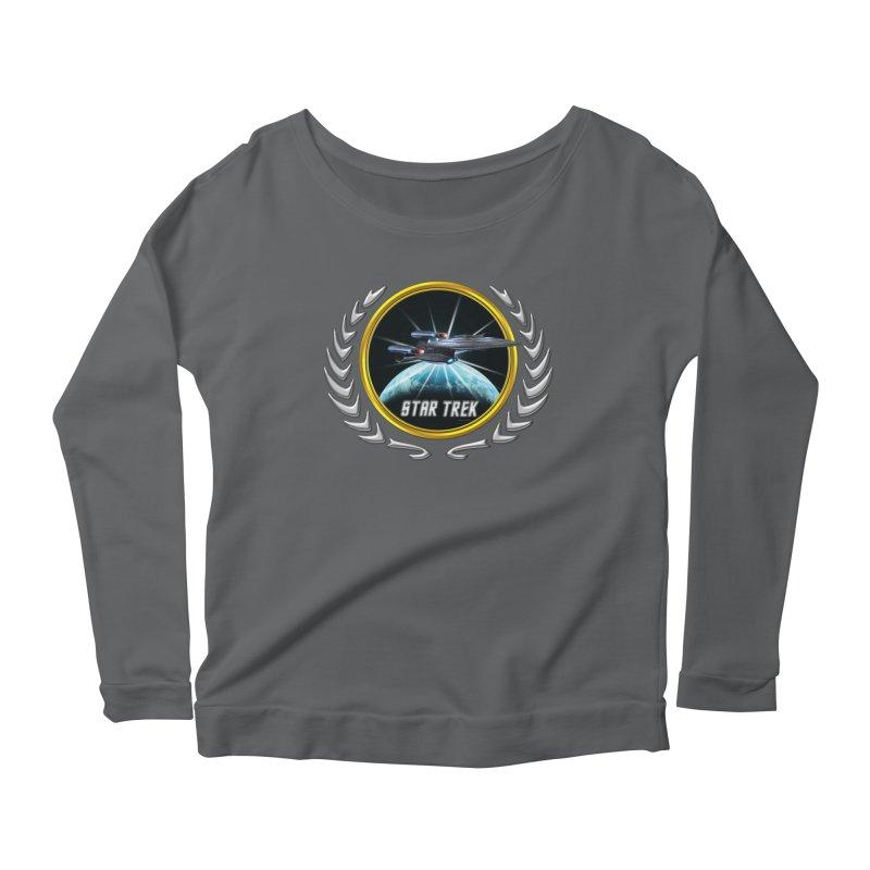 Star trek Federation of Planets Enterprise Galaxy Class Dreadnought 2 Women's Longsleeve Scoopneck  by ratherkool's Artist Shop