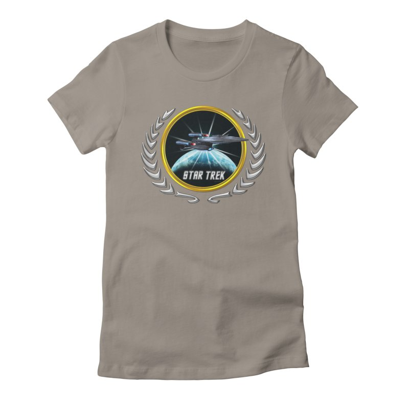 Star trek Federation of Planets Enterprise Galaxy Class Dreadnought 2 Women's Fitted T-Shirt by ratherkool's Artist Shop