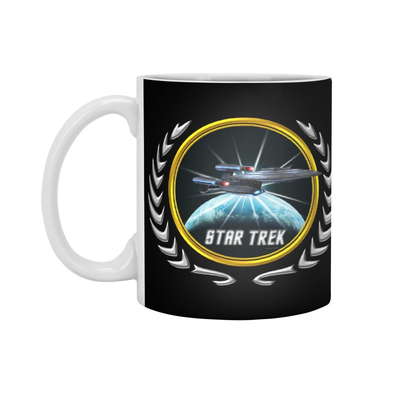 Star trek Federation of Planets Enterprise Galaxy Class Dreadnought 2 Accessories Mug by ratherkool's Artist Shop
