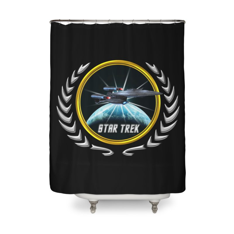 Star trek Federation of Planets Enterprise Galaxy Class Dreadnought 2 Home Shower Curtain by ratherkool's Artist Shop
