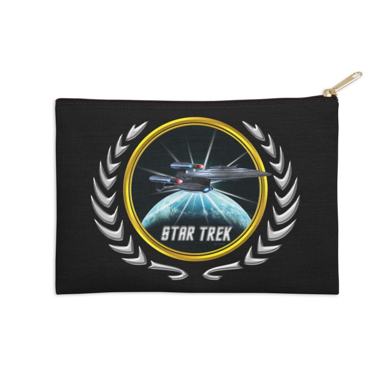 Star trek Federation of Planets Enterprise Galaxy Class Dreadnought 2 Accessories Zip Pouch by ratherkool's Artist Shop