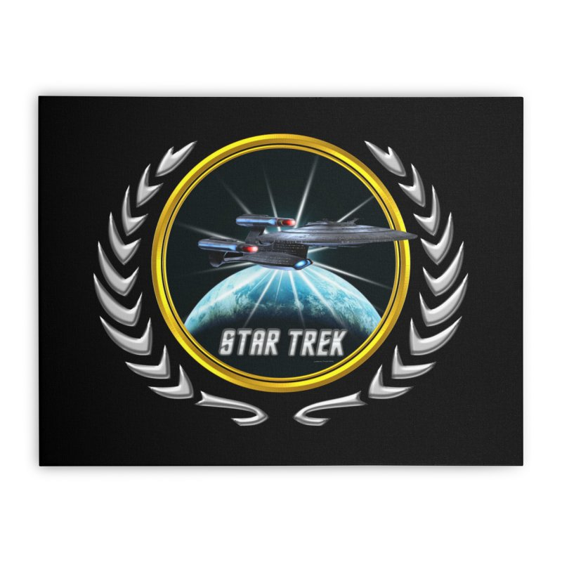 Star trek Federation of Planets Enterprise Galaxy Class Dreadnought 2 Home Stretched Canvas by ratherkool's Artist Shop