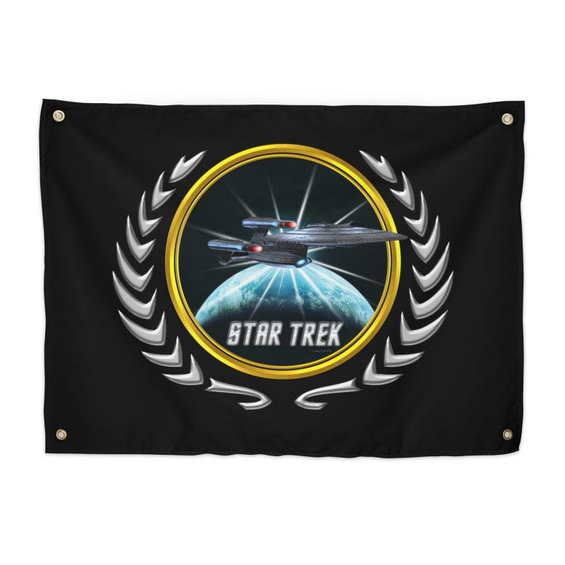 Star trek Federation of Planets Enterprise Galaxy Class Dreadnought 2 Home Tapestry by ratherkool's Artist Shop