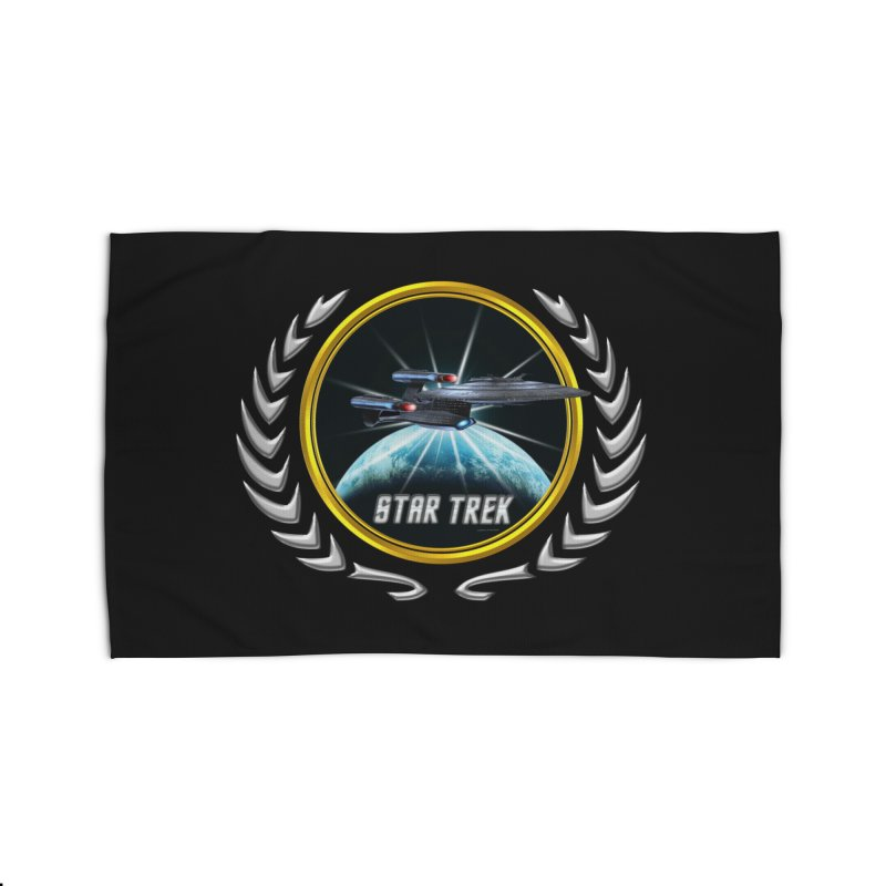 Star trek Federation of Planets Enterprise Galaxy Class Dreadnought 2 Home Rug by ratherkool's Artist Shop