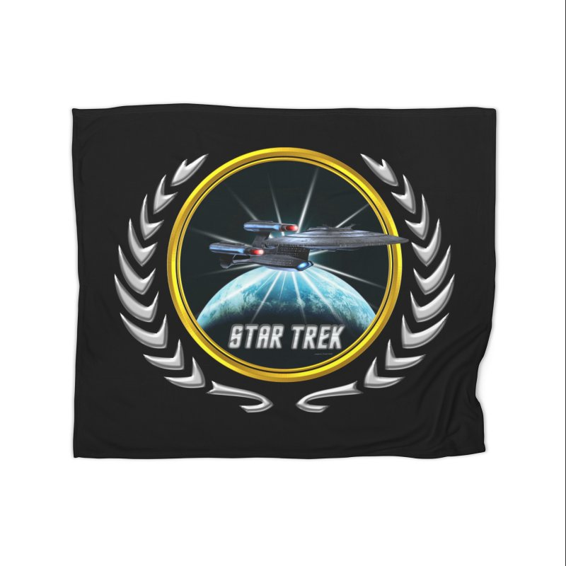 Star trek Federation of Planets Enterprise Galaxy Class Dreadnought 2 Home Blanket by ratherkool's Artist Shop