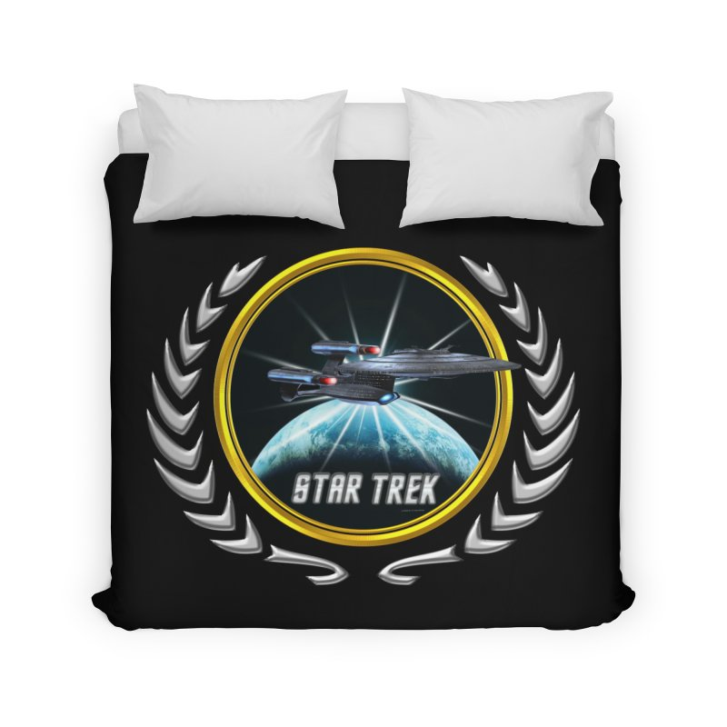 Star trek Federation of Planets Enterprise Galaxy Class Dreadnought 2 Home Duvet by ratherkool's Artist Shop