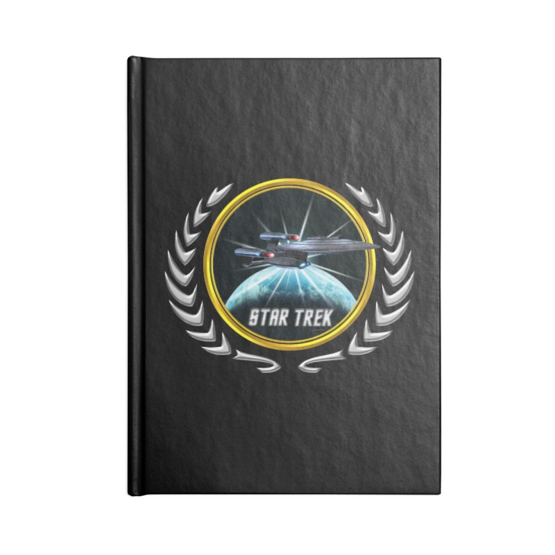 Star trek Federation of Planets Enterprise Galaxy Class Dreadnought 2 Accessories Notebook by ratherkool's Artist Shop