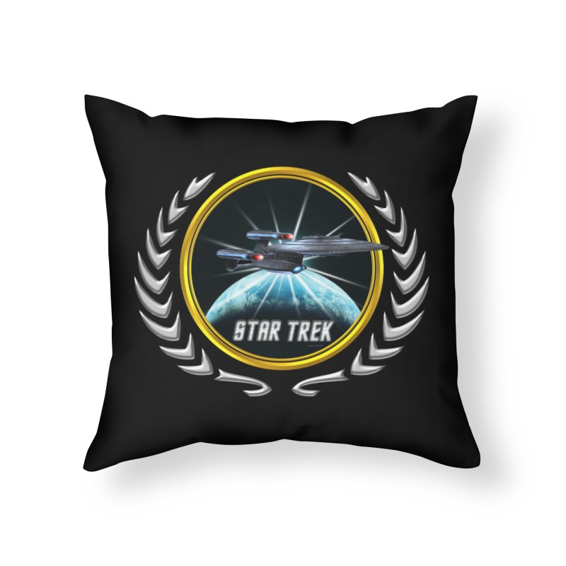 Star trek Federation of Planets Enterprise Galaxy Class Dreadnought 2 Home Throw Pillow by ratherkool's Artist Shop