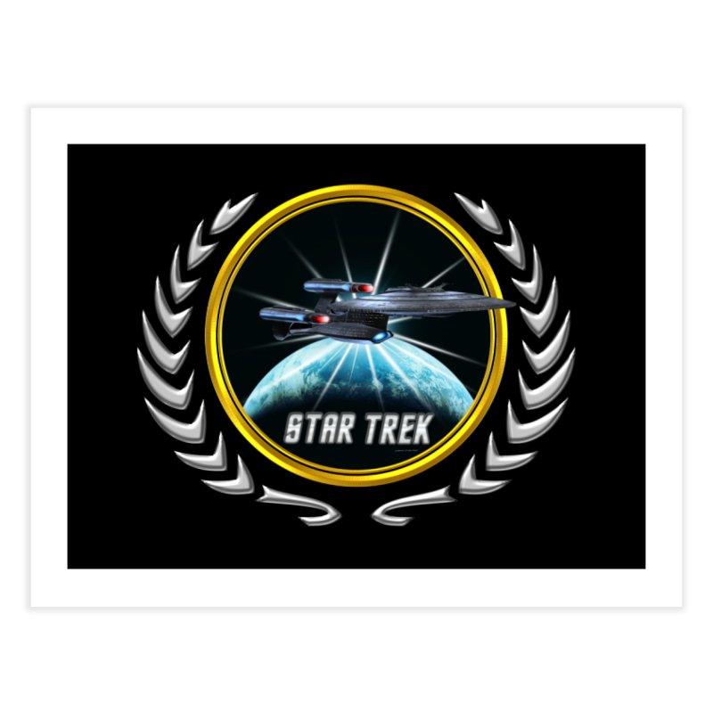 Star trek Federation of Planets Enterprise Galaxy Class Dreadnought 2 Home Fine Art Print by ratherkool's Artist Shop
