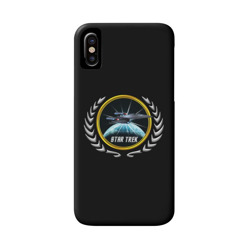 Star trek Federation of Planets Enterprise Galaxy Class Dreadnought 2 Accessories Phone Case by ratherkool's Artist Shop