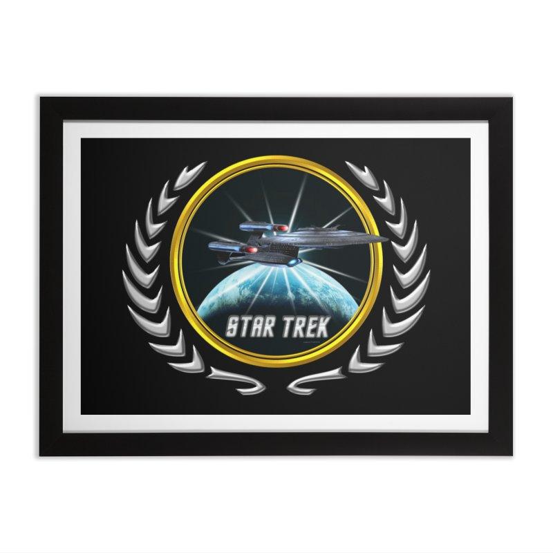 Star trek Federation of Planets Enterprise Galaxy Class Dreadnought 2 Home Framed Fine Art Print by ratherkool's Artist Shop