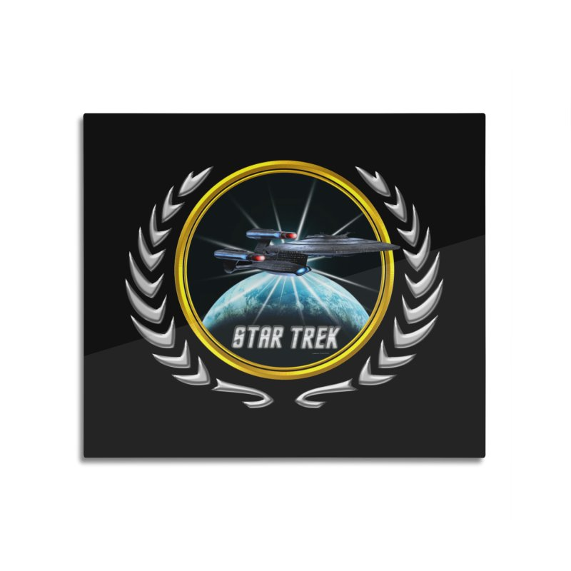 Star trek Federation of Planets Enterprise Galaxy Class Dreadnought 2 Home Mounted Aluminum Print by ratherkool's Artist Shop