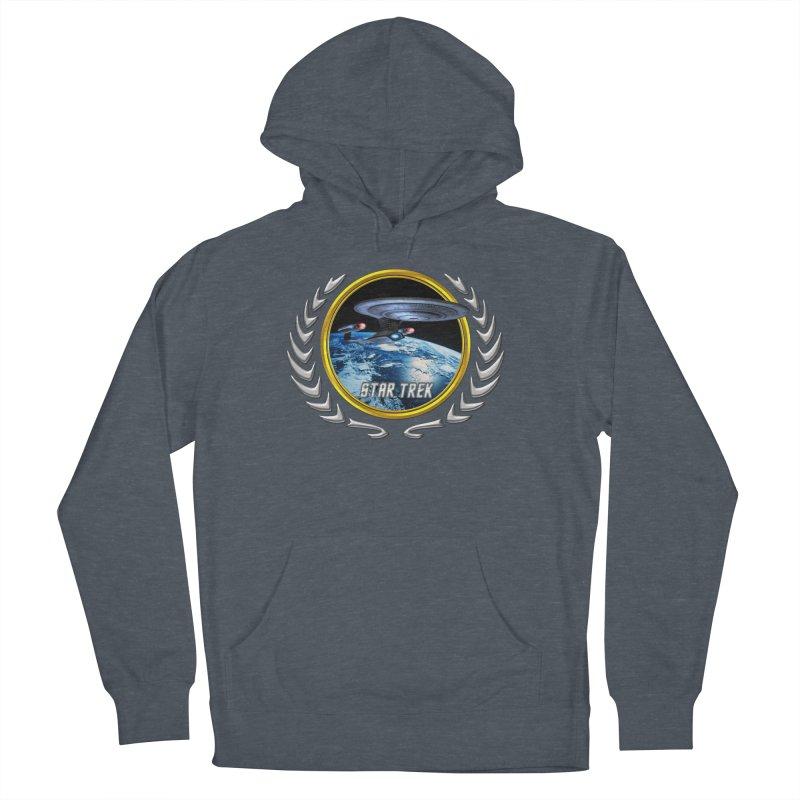 Star trek Federation of Planets Enterprise D Men's Pullover Hoody by ratherkool's Artist Shop