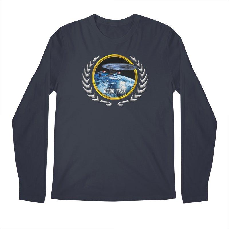 Star trek Federation of Planets Enterprise D Men's Longsleeve T-Shirt by ratherkool's Artist Shop