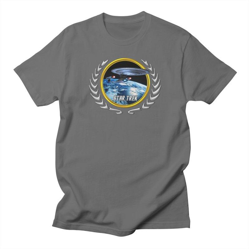 Star trek Federation of Planets Enterprise D in Men's T-Shirt Asphalt by ratherkool's Artist Shop