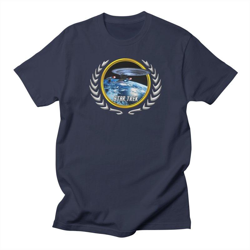Star trek Federation of Planets Enterprise D Men's T-Shirt by ratherkool's Artist Shop