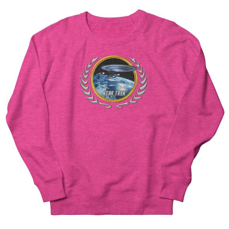 Star trek Federation of Planets Enterprise D Women's Sweatshirt by ratherkool's Artist Shop
