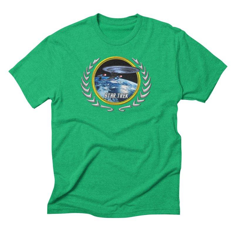 Star trek Federation of Planets Enterprise D Men's Triblend T-Shirt by ratherkool's Artist Shop