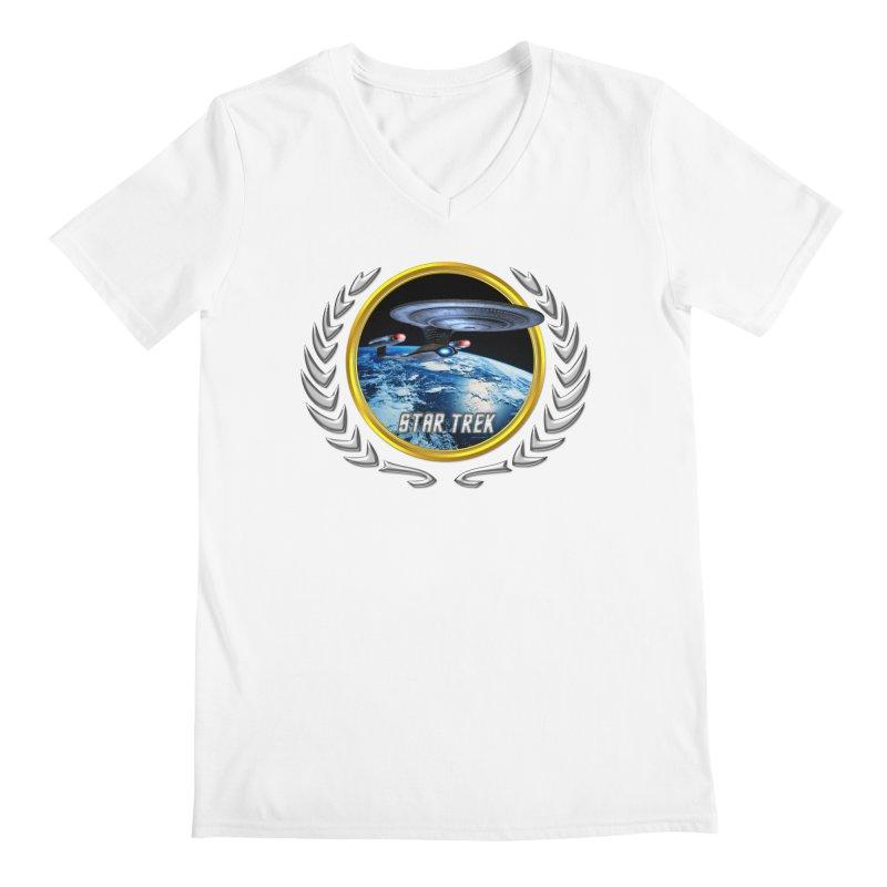 Star trek Federation of Planets Enterprise D Men's V-Neck by ratherkool's Artist Shop
