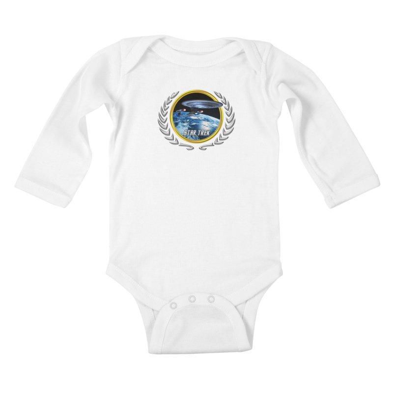 Star trek Federation of Planets Enterprise D Kids Baby Longsleeve Bodysuit by ratherkool's Artist Shop