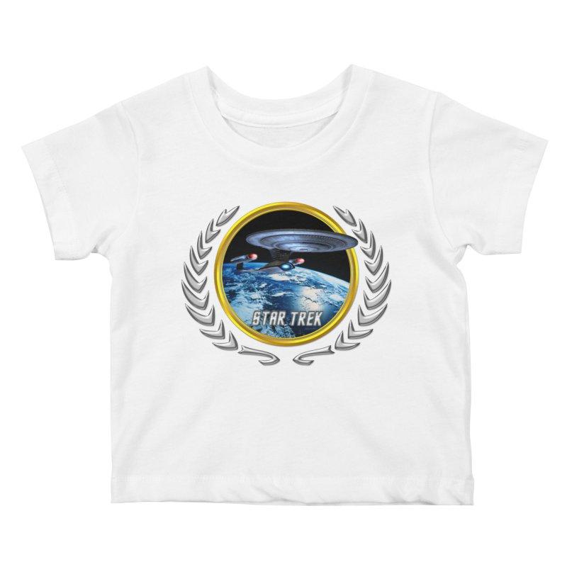 Star trek Federation of Planets Enterprise D Kids Baby T-Shirt by ratherkool's Artist Shop