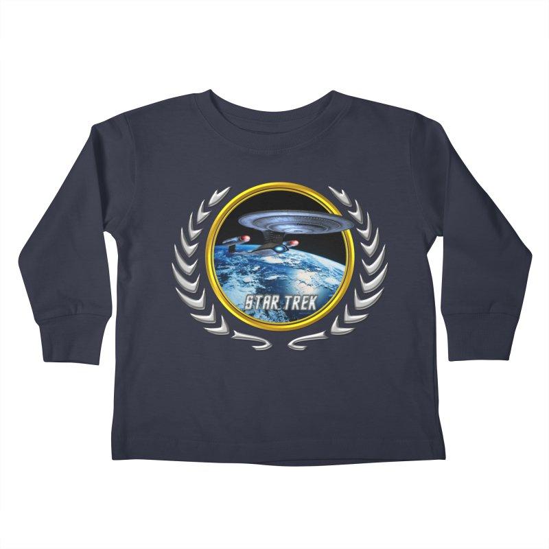 Star trek Federation of Planets Enterprise D Kids Toddler Longsleeve T-Shirt by ratherkool's Artist Shop