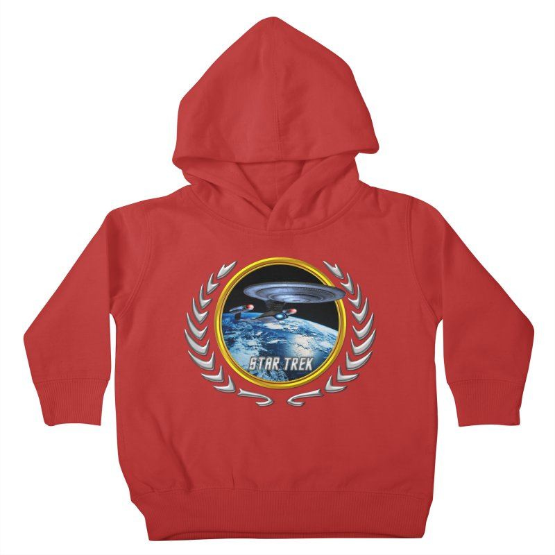 Star trek Federation of Planets Enterprise D Kids Toddler Pullover Hoody by ratherkool's Artist Shop