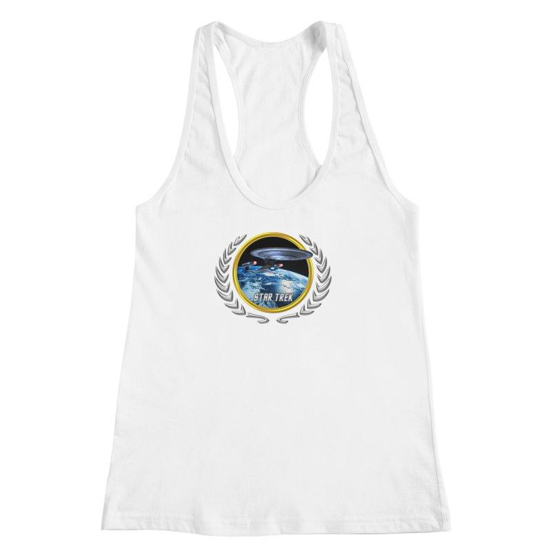 Star trek Federation of Planets Enterprise D Women's Racerback Tank by ratherkool's Artist Shop