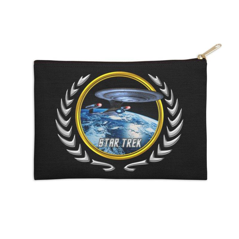 Star trek Federation of Planets Enterprise D Accessories Zip Pouch by ratherkool's Artist Shop
