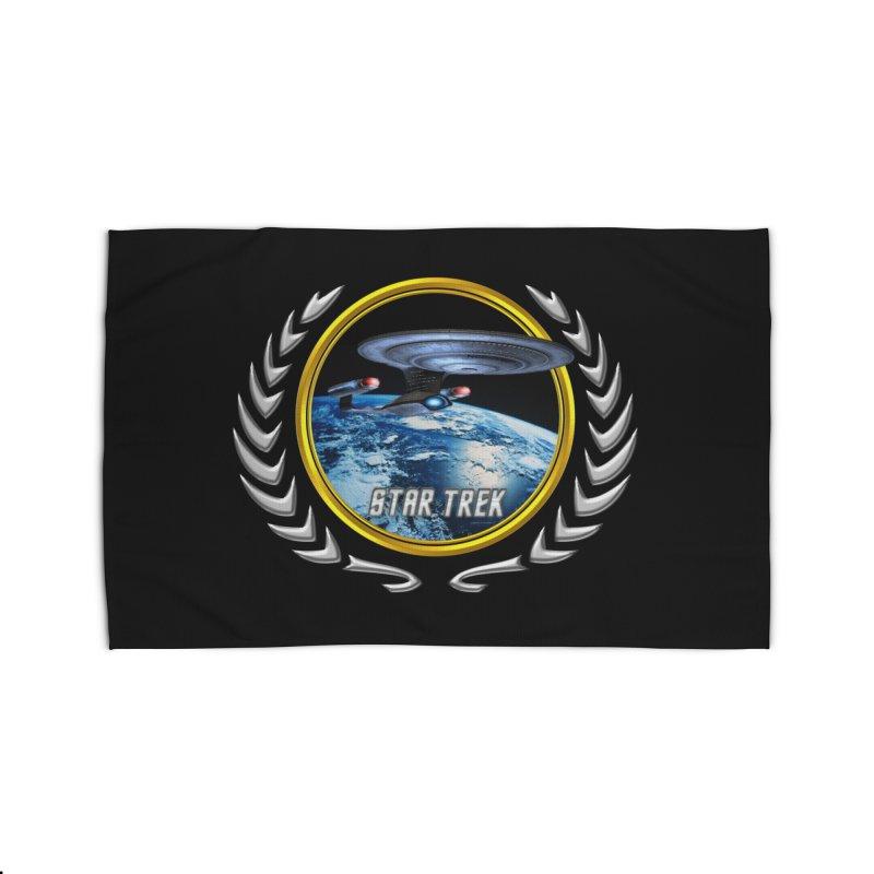Star trek Federation of Planets Enterprise D Home Rug by ratherkool's Artist Shop
