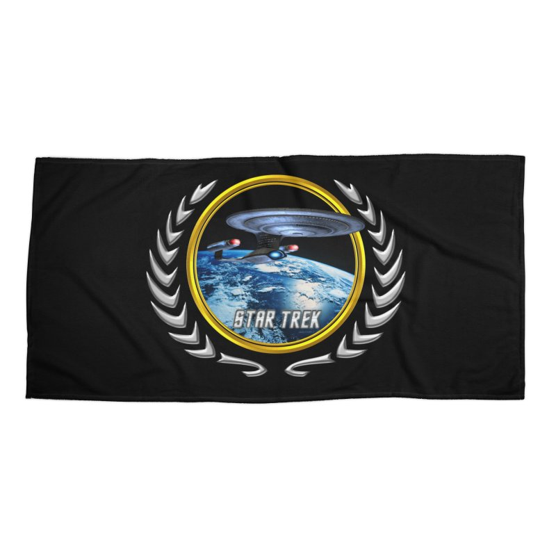 Star trek Federation of Planets Enterprise D Accessories Beach Towel by ratherkool's Artist Shop