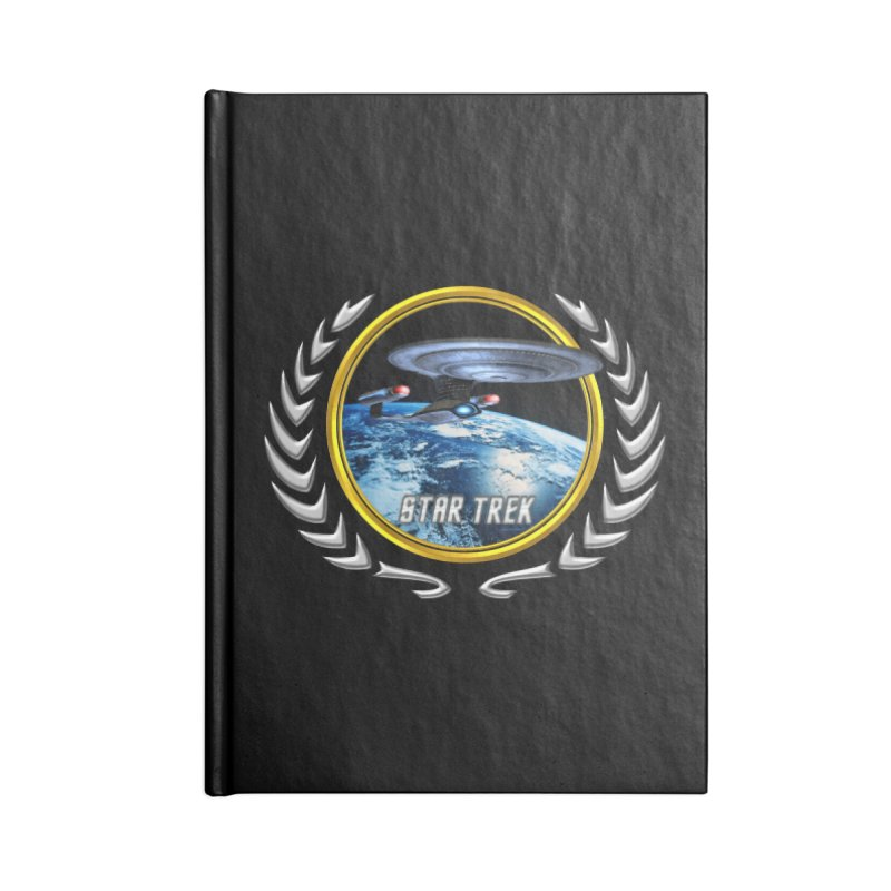 Star trek Federation of Planets Enterprise D Accessories Notebook by ratherkool's Artist Shop